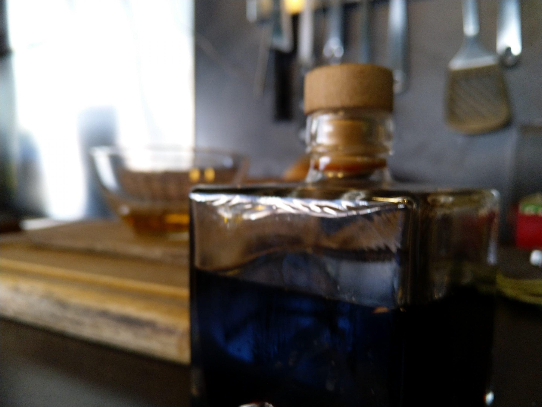 étale de bouteilles